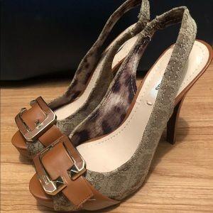 Guess Light Brown Heels Size 7M